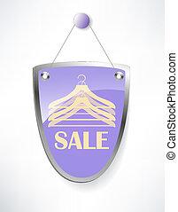 sinal., escudo, venda