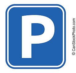 sinal, estacionamento