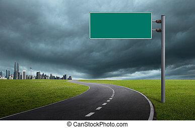 sinal estrada