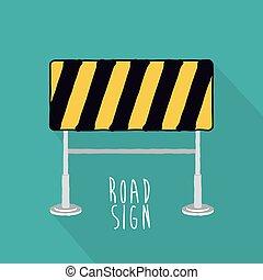 sinal estrada, desenho