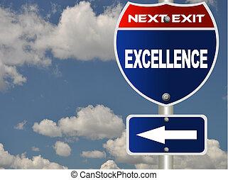 sinal estrada, excelência