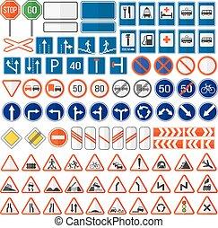 sinal estrada, vetorial, icon.