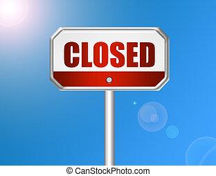 sinal, fechado