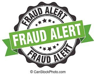 sinal., fraude, stamp., alerta, selo
