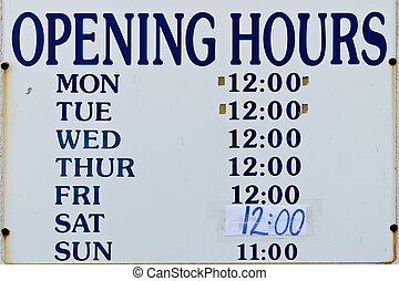 sinal horas abertura