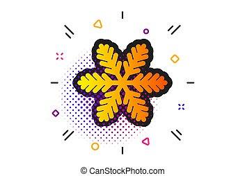 sinal., icon., vetorial, snowflake, neve, natal