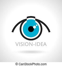 sinal, idéias, visão, ícone