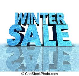 sinal, inverno, venda