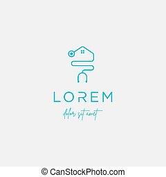 sinal médico, vetorial, desenho, logotipo, lar, ícone