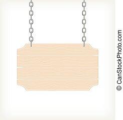 sinal, madeira, vetorial