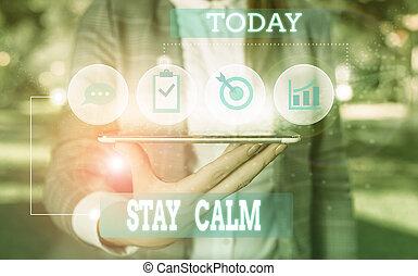 sinal, mostrando, pressão, trabalho, uso, conceitual, texto,...
