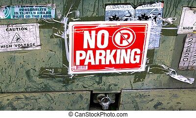 sinal, nenhum estacionamento