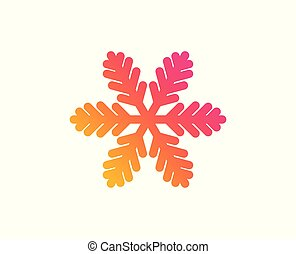 sinal., neve, natal, vetorial, icon., snowflake