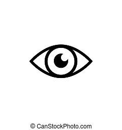 sinal., olho, ícone