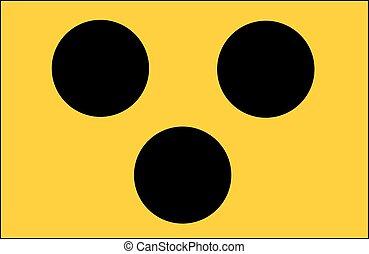 sinal, para, cego, pessoas, alemanha, e, áustria