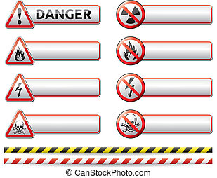sinal perigo, bandeira