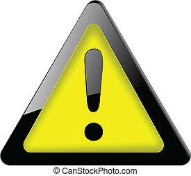 sinal., perigo, vector., ícone