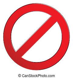 sinal, proibidas