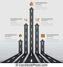 &, sinal, rua, desenho, modelo, infographics