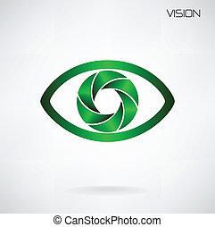 sinal, símbolo, visão global, ícone