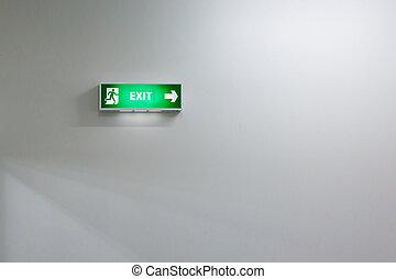 sinal saída fogo