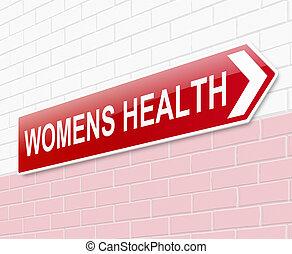 sinal., saúde womens