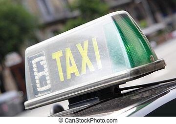 sinal táxi