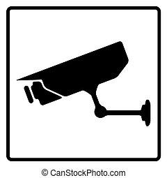 sinal, vigilância, cctv