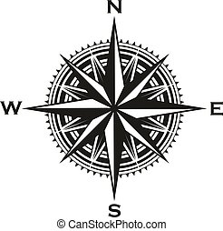 sinal, vindima, vetorial, navegação, compasso