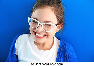Sincere smile, happy child