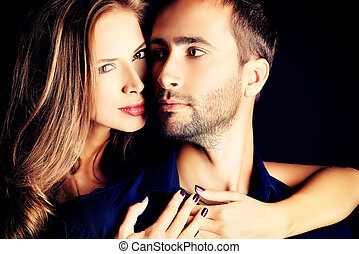 sincerity - Portrait of a beautiful young couple in love...