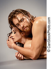 sincerity - Portrait of a beautiful passionate lovers. Love...