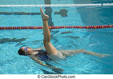 sincronizado, nadador