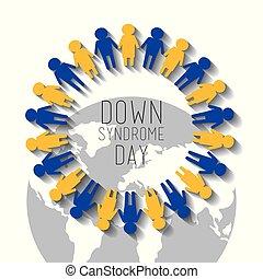 sindrome, persone, giorno, giù, mondo, infanzia