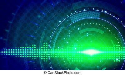 sine waves green blue technology - green blue sine waves....