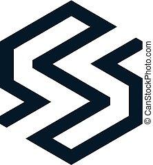 sinergia, logotipo, s, -, lettera