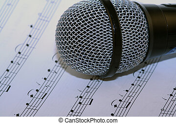 microphone on music