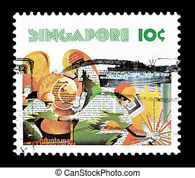 Singapore 1977 workers