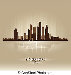 Singapore Asia skyline city silhouette
