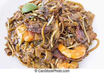 Singapore Char Kway Teow Closeup - Singapore Char Kway Teow...