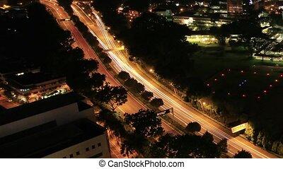 Singapore City at Night Timelapse