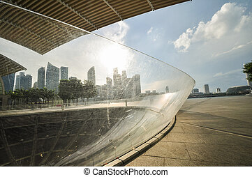 Singapore city skyline finacial district