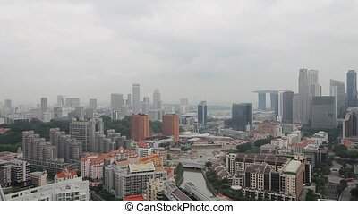 Singapore Cityscape Pano Vlew - Singapore City Skyline and...