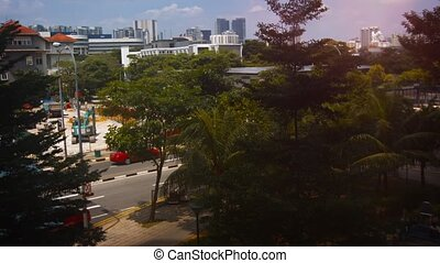 Singapore Cityscape with Traffic and Construciton in Timelapse. video