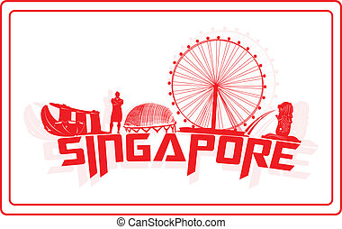 Singapore. - Sinagpore and her landmark icons.