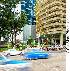 Singapore Downtown Core rush hour