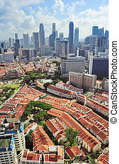 Singapore downtown view