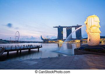 Singapore Merlion - Singapore Feb-18, Singapore Merlion at ...