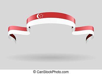 Singapore flag background. Vector illustration. - Singapore...