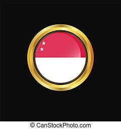 Singapore flag Golden button